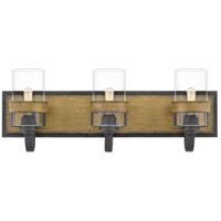 Quoizel FIN8624AWN Finch 3 Light 24 inch Aged Walnut Bath Light Wall Light
