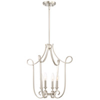 Quoizel FNS5204PK Finesse 4 Light 19 inch Polished Nickel Foyer Chandelier Ceiling Light Extra Large