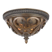 Quoizel Lighting Fort Quinn 2 Light Outdoor Semi-Flush Mount in Antique Brown FQ1613AW01 photo thumbnail