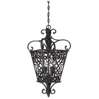 Quoizel Fort Quinn 4 Light Foyer Piece in Marcado Black FQ1913MK01