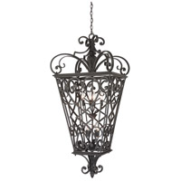 Fort Quinn 8 Light 31 inch Marcado Black Outdoor Hanging Lantern