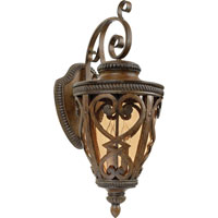 Quoizel Lighting Fort Quinn 3 Light Outdoor Wall Lantern in Antique Brown FQ8312AW01