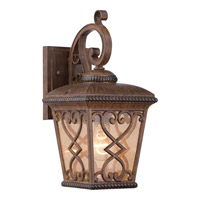 Quoizel Fort Quinn 1 Light Outdoor Wall Lantern in Antique Brown FQ8407AWFL