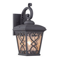 Quoizel Fort Quinn 1 Light Outdoor Wall Lantern in Marcado Black FQ8407MK