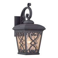 Quoizel Fort Quinn 1 Light Outdoor Wall Lantern in Marcado Black FQ8409MKFL