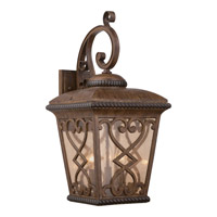 Quoizel Fort Quinn 3 Light Outdoor Wall Lantern in Antique Brown FQ8411AW
