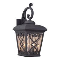 Quoizel Fort Quinn 3 Light Outdoor Wall Lantern in Marcado Black FQ8411MK