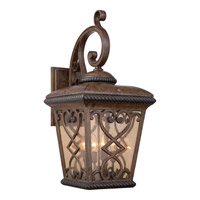 Quoizel Fort Quinn 4 Light Outdoor Wall Lantern in Antique Brown FQ8414AW