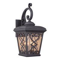 Quoizel Fort Quinn 4 Light Outdoor Wall Lantern in Marcado Black FQ8414MK