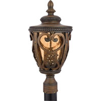 Quoizel Lighting Fort Quinn 2 Light Outdoor Post Lantern in Antique Brown FQ9010AW01 photo thumbnail