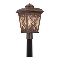 Fort Quinn 3 Light 19 inch Antique Brown Outdoor Post Lantern