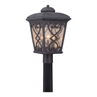 Fort Quinn 3 Light 19 inch Marcado Black Outdoor Post Lantern