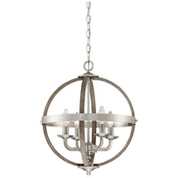 Quoizel FSN5204BN Fusion 4 Light 17 inch Brushed Nickel Foyer Piece Ceiling Light, Naturals