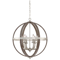Quoizel FSN5206BN Fusion 6 Light 25 inch Brushed Nickel Foyer Piece Ceiling Light, Naturals