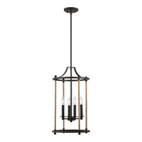 Quoizel Frontier 4 Light Foyer Piece in Imperial Bronze FTR5204IB