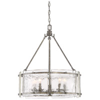 Fortress 5 Light 21 inch Mottled Silver Pendant Ceiling Light