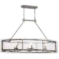 Quoizel FTS638MM Fortress 6 Light 39 inch Mottled Silver Island Chandelier Ceiling Light
