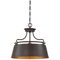 Fairview 3 Light 18 inch Western Bronze Pendant Ceiling Light