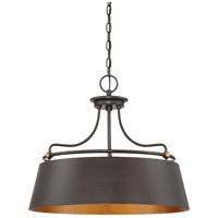 Fairview 4 Light 24 inch Western Bronze Pendant Ceiling Light