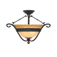 Quoizel Lighting Genova 2 Light Semi-Flush Mount in Stonehedge GE1723SE