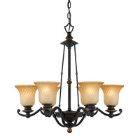 Quoizel Lighting Genova 6 Light Chandelier in Stonehedge GE5006SE