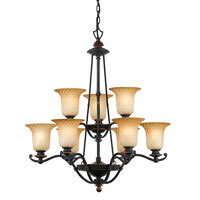 Quoizel Lighting Genova 9 Light Chandelier in Stonehedge GE5009SE