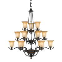 Quoizel Lighting Genova 15 Light Chandelier in Stonehedge GE5015SE photo thumbnail