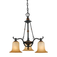 Quoizel Lighting Genova 3 Light Chandelier in Stonehedge GE5103SE