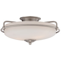 Griffin 3 Light 17 inch Antique Nickel Flush Mount Ceiling Light