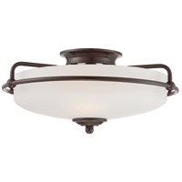 Griffin 3 Light 17 inch Palladian Bronze Flush Mount Ceiling Light