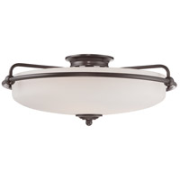 Quoizel Lighting Griffin 4 Light Flush Mount in Palladian Bronze GF1621PN