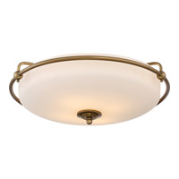 Quoizel Griffin 4 Light Flush Mount in Weathered Brass GF1621WS