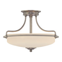 Quoizel GF1717AN Griffin 3 Light 17 inch Antique Nickel Semi-Flush Mount Ceiling Light  alternative photo thumbnail