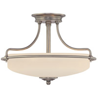 Griffin 3 Light 17 inch Antique Nickel Semi-Flush Mount Ceiling Light