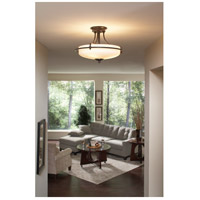 Quoizel Lighting Griffin 3 Light Semi-Flush Mount in Palladian Bronze GF1717PN alternative photo thumbnail