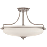 Griffin 4 Light 21 inch Antique Nickel Semi-Flush Mount Ceiling Light