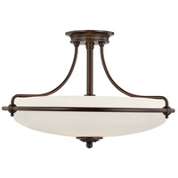 Griffin 4 Light 21 inch Palladian Bronze Semi-Flush Mount Ceiling Light