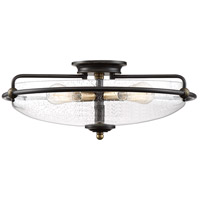 Quoizel GFC1621PN Griffin 4 Light 21 inch Palladian Bronze Flush Mount Ceiling Light, Extra Large
