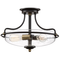 Quoizel GFC1717PN Griffin 3 Light 17 inch Palladian Bronze Semi-Flushmount Ceiling Light
