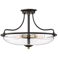 Quoizel GFC1721PN Griffin 4 Light 21 inch Palladian Bronze Semi-Flushmount Ceiling Light, Extra Large