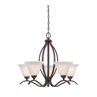 Quoizel Gilford 5 Light Chandelier in Old Bronze GIL5005OZ
