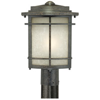 Quoizel Lighting Galen 1 Light Outdoor Post Lantern in Imperial Bronze GLN9010IB