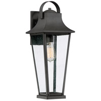 Quoizel GLV8407MB Galveston 1 Light 19 inch Mottled Black Outdoor Wall Lantern