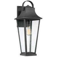 Quoizel GLV8408MB Galveston 1 Light 22 inch Mottled Black Outdoor Wall Lantern
