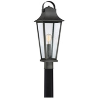 Quoizel GLV9008MB Galveston 1 Light 25 inch Mottled Black Outdoor Post Lantern