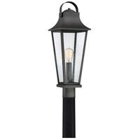 Quoizel GLV9008MB Galveston 1 Light 25 inch Mottled Black Outdoor Post Lantern