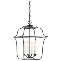 Quoizel GLY5204BA Gallery 4 Light 14 inch Royal Ebony Foyer Pendant Ceiling Light