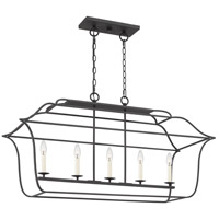 Quoizel GLY542BA Gallery 5 Light 41 inch Royal Ebony Island Chandelier Ceiling Light