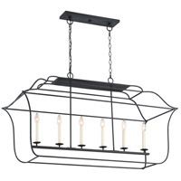 Gallery 6 Light 48 inch Royal Ebony Island Chandelier Ceiling Light