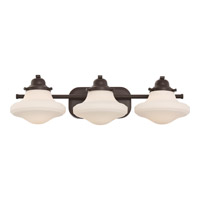 Garrison 3 Light 25 inch Western Bronze Bath Light Wall Light
